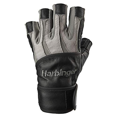 Harbinger BioForm Wristwrap Weightlifting Glove with Heat-Activated Cushioned Palm (Pair), Large
