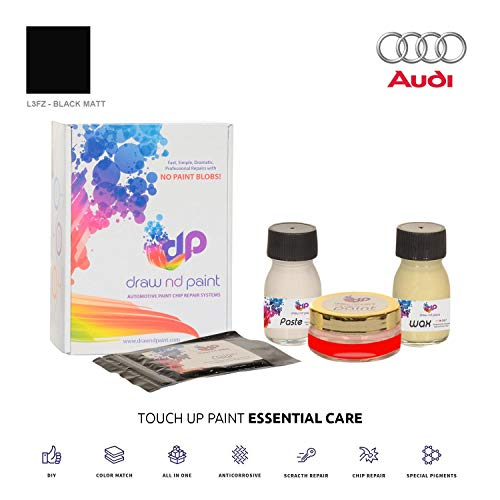 DrawndPaint for/Audi R8 / Black Matt - L3FZ / Touch-UP Paint System Exact-Match/Essential Care