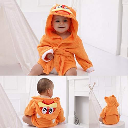 HUANGRONG Albornoz de invierno de algodón para bebé, material cálido y absorbente, toalla de baño para bebé, toalla de baño de un mes para foto (color: naranja gato)