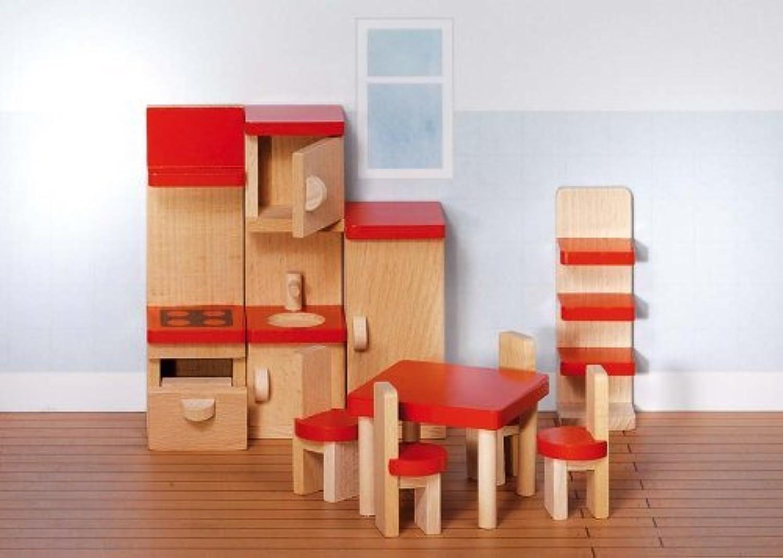 Goki komplette Puppenhaus  Einrichtung mit Puppen im Set holzzwerge