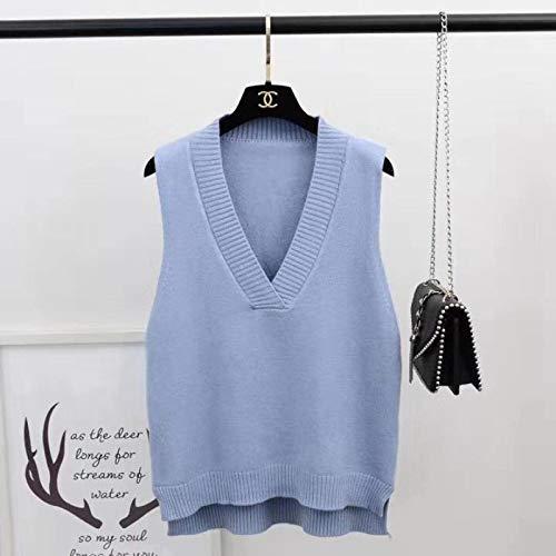 Moda Sudaderas Jersey Sweater Chaleco De Suéter para Mujer, Sólido,