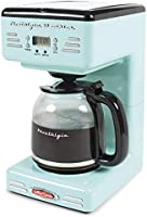 Nostalgia RCOF12AQ New & Improved Retro 12-Cup Programmable Coffee Maker With LED Display, Automatic Shut-Off & Keep...