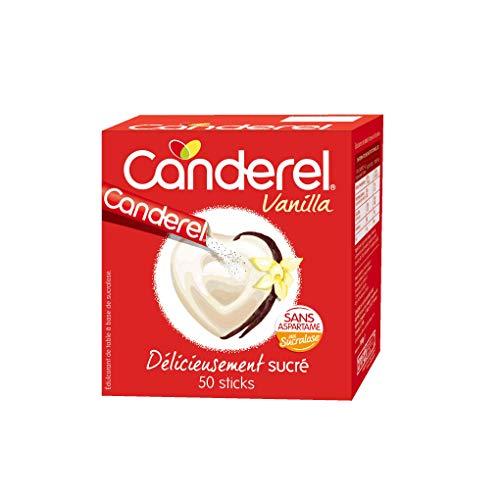 Canderel – Sucralosa en Sticks – edulcorante – el azúcar sin calorías – Sin aspartamo – Vanilla – 50 varillas