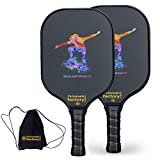 Pickleball Set, Pickleball Paddles, Pickleball Paddle Set of 2, Ski Paddleball with Tennis Racquet Cover as Pickleball Gifts for Women Men Beach Ball Game Outdoor