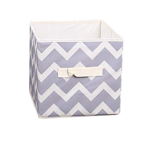 Boîte de Rangement sans Couvercle de Rangement Organisateur penderie vêtements Tissu carré 28 * 28 * 28cm-Gris