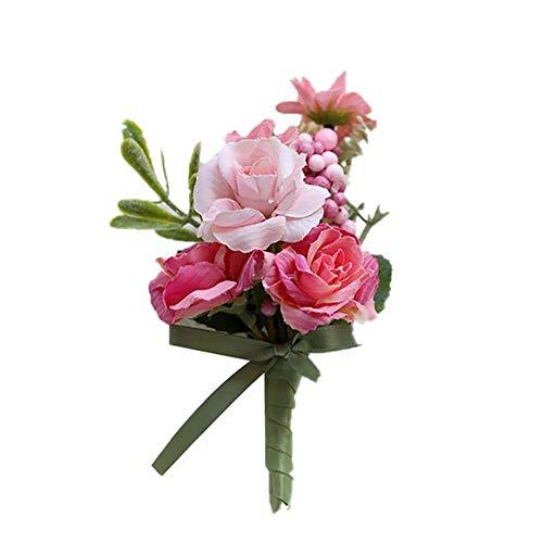 Daaimi - Broche para dama de honor, diseño de flores para hombre