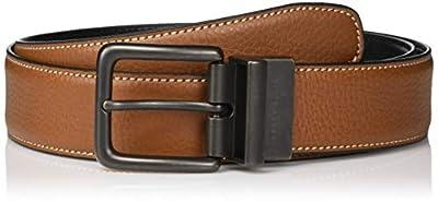 Perry Ellis Men's Portfolio Casual Reversible Luggage Belt 35mm, 36