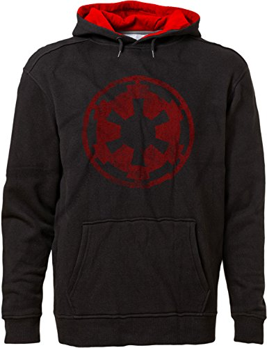 BSW Men's Parody Star Imperial Crest Empire Logo Sith Lord Hoodie 2XL Blk/Red