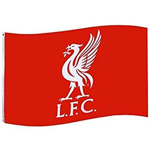 Riesige Offizielle Liverpool FC (2019 Premier League) Wappenflagge (100 % Polyester, Maße: 152 x 91 cm)