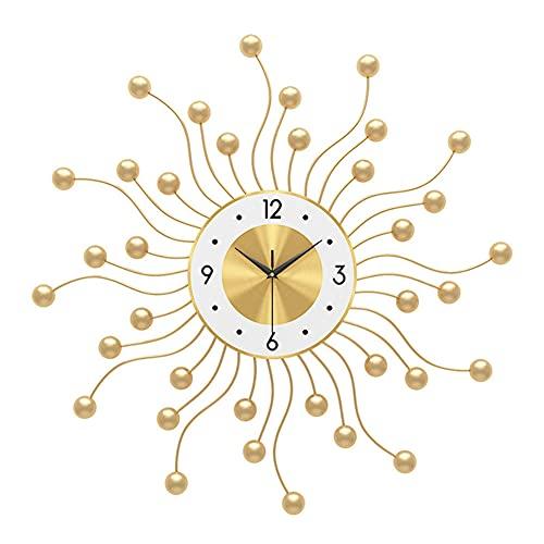 SOFACTY Orologio da Parete Grande Oro Orologio al Quarzo Creativo Numeri Romani per Bar Soggiorno Ristorante 60X60cm