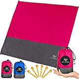 ARTVINITY Beach Blanket Sandproof Waterproof - Oversized Outdoor Blanket for Beach, Travel, Picnic, Camping, Festivals, Sand Free Beach Mat with Stakes, 83'x79' Extra Large Picnic Mat for 4-7 Adults