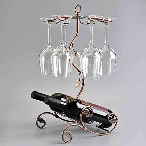 Estante de Vino s Estante de Vino de Botella Doble Colgar Seis Tazas de Estante de Vino Portavasos de Vino Estante de Vino al revés Soporte de Vidrio Alto Estante de Vino