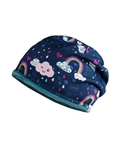 maximo Mädchen Beanie-Mütze, Tinte-weiß-Regenbogen, 49