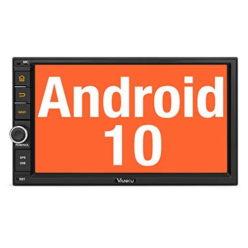 Vanku Android 10 Autoradio mit Navi 32GB+2GB Radio Unterstützt Qualcomm Bluetooth 5.0 DAB + WiFi 4G Android Auto USB MicroSD 2 Din 7 Zoll Bildschirm