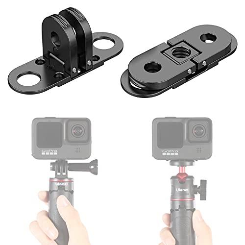 Ulanzi GP-10 - Soporte para GoPro (adaptador monopod y base con orificio de tornillo de 1/4 pulgadas, compatible con cámara GoPro Hero 8 y 9)