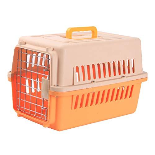 Jlxl transportboxen voor katten, dragers van dieren, afneembare reis, luchtvaart-trein, auto, metaal, deurvergrendeling, draagbaar roostermat