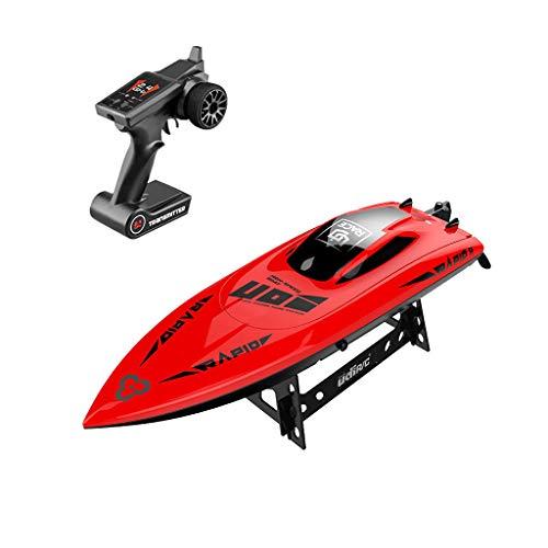 Bascar RC Boot Ferngesteuertes Boot UDI 009 Hoch Geschwindigkeits-RC-Boot 2.4G Selbstaufrichtendes Wasserdichtes RC Boot Modell High Speed RC Boot für Seen Flüsse und Pools hai