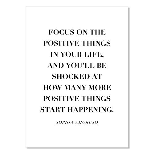 Focus On the Positive Things In You…