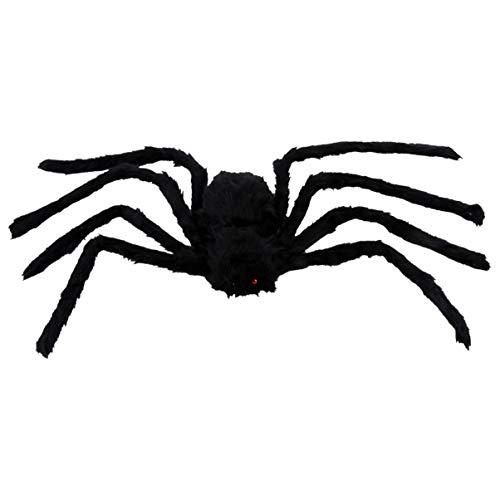 HEALLILY Halloween Araña de Peluche de Juguete Animal de Peluche Marioneta de Araña Peludo Y Esponjoso Modelo de Araña Figura de Insecto para Niños Casa Embrujada Fiesta Broma Mordaza 75Cm
