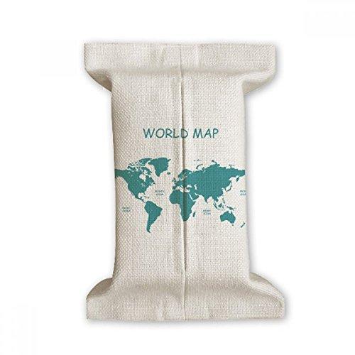 DIYthinker World Map Continent Distributie Silhouette Tissue Paper Cover Katoen Linnen Houder Opslag Container Gift