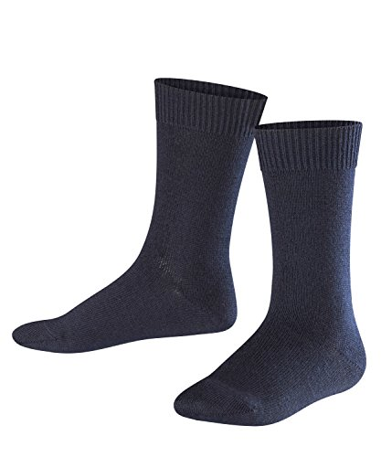 FALKE Kinder Socken Comfort Wool - Merinowoll-/Baumwollmischung, 1 Paar, Blau (Dark Marine 6170), Größe: 39-42