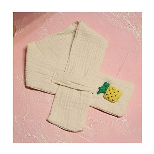 Unisex-Kinder-Schal, dick, modisch, einfarbig, für den Winter, warme Baumwolle, niedlicher Obst-Schal, mit Kreuz-Ausschnitt, Wickelschal, Geschenke (Farbe: Beige)