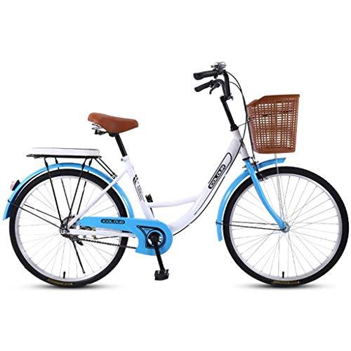RLF LF Cruiser Bikes24-Zoll-High-Carbon Steel Fahrrad, Frauen-Fahrrad, Damen Studenten Retro-Fahrrad, Geeignet Für Unterhaltung Für Ordinary Travel to Work