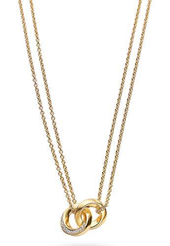 JETTE Silver Damen-Kette 925er Silber 26 Zirkonia One Size Gold 32012147