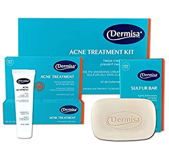Dermisa Acne Treatment Kit | Acne Treatment Cream  1 OZ  + Sulfur Bar  3 OZ  | Acne Spot Treatment Cream and Cleansing Bar For Face and Body On Blemish and Breakout Prone Skin | 5% Benzoyl Peroxide Sulfur Aloe Vera