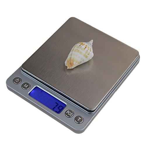 TOOGOO 3000g/0.1g Mini bascula Digital Electronica portatil Caja de Bolsillo Bascula Digital de Equilibrio de Peso de Joya de cocicna Postal