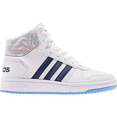 Adidas Hoops Mid 2.0 EE8546 Bianco Scarpe Donna Bambino Sneakers Ginnastica (35, Multicolore) (38, Bianco)
