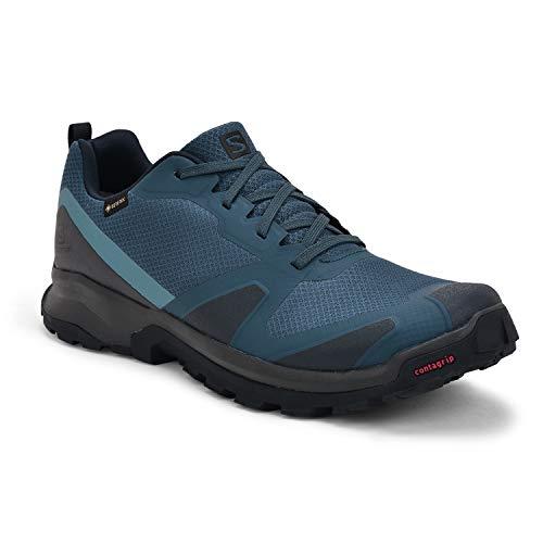 Salomon Herren Trail-Running-Schuhe, XA COLLIDER GTX, Farbe: Blau (Dark Denim/Ebony/Navy Blazer), Größe: EU 46 2/3
