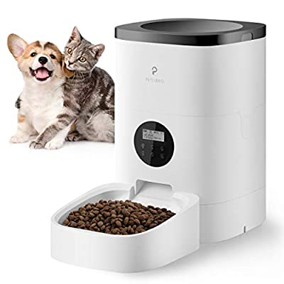 Petlibro Automatic Cat Feeder, Auto Dog Food Dispenser Timed Cat Feeder Portion Control 1-4 Meals per Day Voice Recorder for Small & Medium Pets