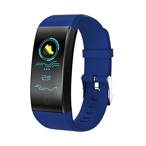 GBYN Pulsera Inteligente, Modo multideportivo de detección de Salud, Pantalla Anti Acuarela, Adecuado para el Sistema Android iOS-Blue