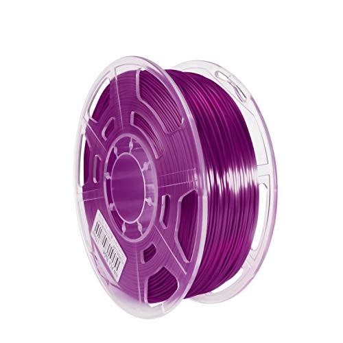 Haude 3D Printer Consumables Silk PLA High Gloss 1.75mm Printing Filament High Translucent 1KG FDM Wire,Violet