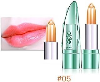 BZAHW Cambio de Temperatura Color Jelly Lipstick Aloe Vera Lip Stick Hidratante Duradero (Color : Color 5#)