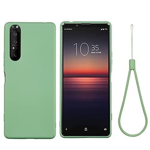 BeyondTop Funda Compatible con Sony Xperia 5 Plus, Carcasa Silicona Suave Gel Rasguño y Resistente Teléfono Móvil Cover, Funda para Sony Xperia 5 Plus (Verde)