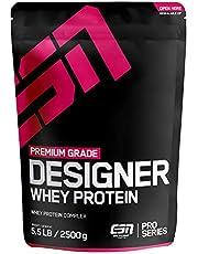 ESN Designer Whey Protein Big Pack – 2500g – Vanilla Ice Cream – Eiweißpulver reich an essentiellen Aminosäuren (EAAs) – Sehr gut löslich – 83 Portionen – Made in Germany