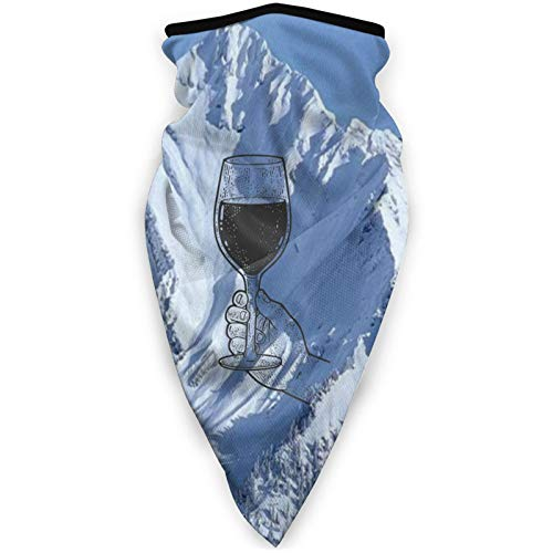 I Need A Huge Glass of Wine Seamless Neck Gaiter Scarf Bandana Face Mask Seamless UV Protection for Headbands
