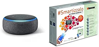 Echo Dot (3ª generazione) - Altoparlante intelligente con integrazione Alexa - Tessuto antracite + Bticino SL3000KIT Livin...
