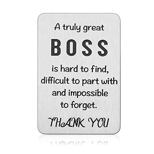 Boss Day Appreciation Gifts for Men Women Office Wallet Insert Card for Supervisor Mentor Leader Going Away Farewell Leaving Goodbye Coworker Colleague Thank You Birthday Retirement Christmas Presents