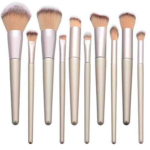 Kaki 10 Pack Maquillage Brosse Fondation Fondation Fard À Paupières Fard À Paupières Correcteur Brosse Fille Maquillage Outils