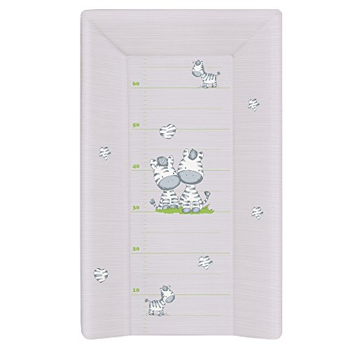 Ceba Baby Cambiador Bebe para Cuna Impermeable para Niños y Niñas - Gris Cebra 80x50 cm