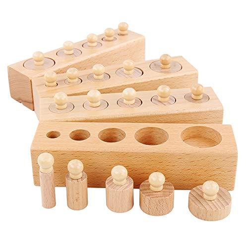 Gobesty Juego de juguetes Montessori para niños para el desarrollo temprano y formación