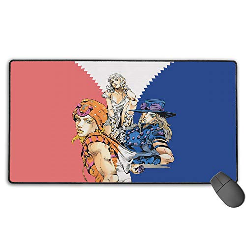 JoJo Part Extended Size Professional Gaming Mouse Pad JoJo's Bizarre Adventure Computer Keyboard Pad Mat Ultra Thick 3Mm 15.8X35.5 in(40Cm X 90Cm)
