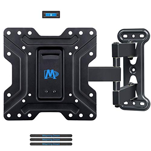 "Mounting Dream TV Mount Full Motion TV Wall Mounts Articulating Arms Perfect Center Design, Fits 17-39"", Some Up to 43"" LED, LCD TV, Wall Mount TV Bracket Max VESA 200 X 200mm, 60lbs, MD2413-S"