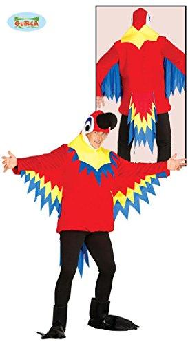 Papageienkostüm bunt Papagei Kostüm Papageikostüm Tier Zoo Kostüm für Damen Herren Erwachsene Gr. M/L, Größe:L