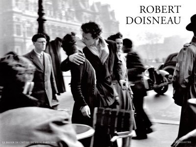 Robert Doisneau Poster/Kunstdruck Le baiser de l'hotel 80 x 60 cm