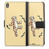DeinDesign Étui Compatible avec Sony Xperia E5 Étui Folio Étui magnétique Winnie l'ourson Tigrou...
