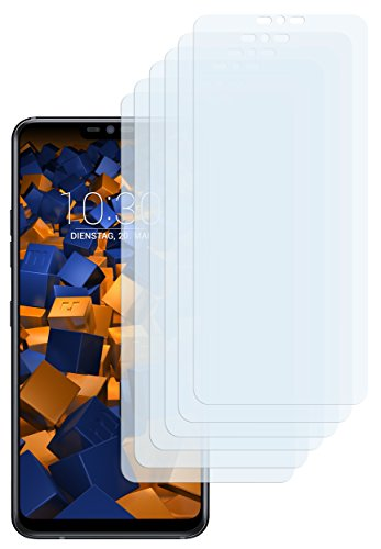 mumbi Schutzfolie kompatibel mit LG G7 ThinQ / LG G7 fit Folie klar, Bildschirmschutzfolie (6x)